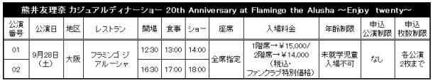 Kumai Yurina - Dinner Shows